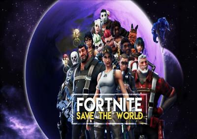 FORTNITE ft10 A4/A3 POSTER WALL ART