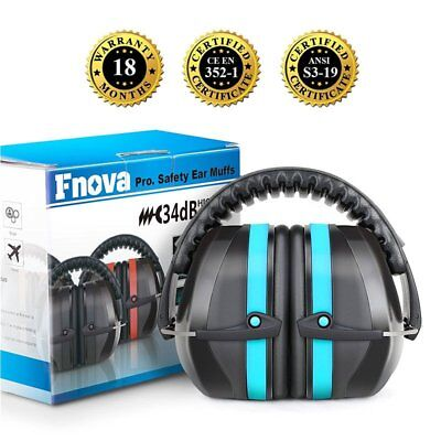 34db Sky Blue Adjustable Ear Muff Hearing Noise Protection for Shooting Hunting