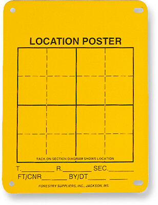 "Aluminum Location Poster 4"" x 6"" Pack of 100"