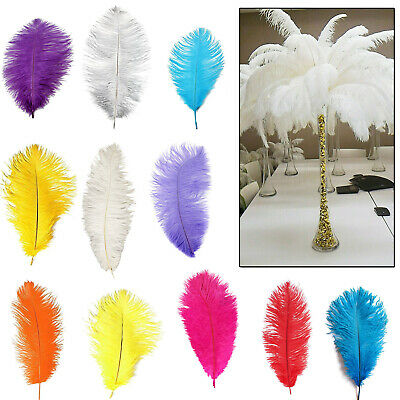 35-40cm Beautiful Ostrich Feathers Fly Plume Hat Arts Craft Party Decorations