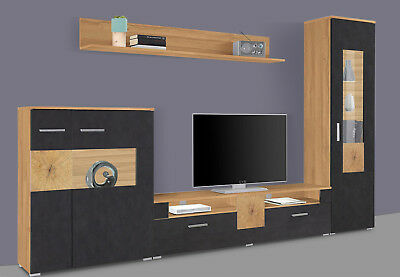 wohnwand anbauwand dakar sibiu l rche und absetzungen touchwood inkl led eur 299 00 picclick de. Black Bedroom Furniture Sets. Home Design Ideas