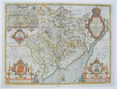 Monmouthshire: antique map by John Speed, 1611 (1627 edition)