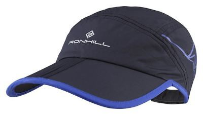 Ronhill Trail Lightweight Running Jogging Cap Black/Cobalt *NEW*