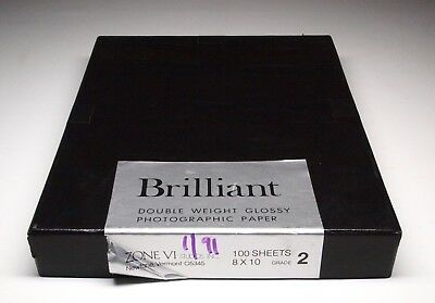 Zone VI Brilliant Double Weight Glossy Photographic Paper Grade 2
