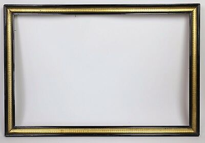 Large frame Napoleon III 19th view :44,5x70 cm OUT: 52x 77,5 cm frame cornice
