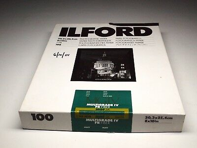 ilford Double Weight Photographic Paper Multigrade IV FB MGF.5K Matt 8x10