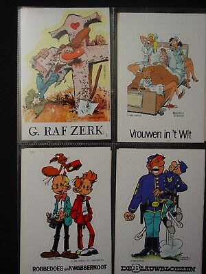 ROBBEDOES / SPIROU DUPUIS 8 stickers TOME LAMBIL ROBA FRANQUIN KOX etc