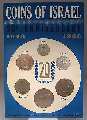 LIQUIDATION Coins of Israel 20th Anniversary 1948-1968 Large Lot of 139 Sleeves!
