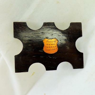 ANTIQUE RELIC of 'HMS ROYAL GEORGE' sunk 1782 TREEN THREAD WINDER SEWING