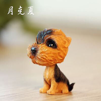 2018 NEW Puppy Bobble Head Yorkshire Terrier Dog Toy Home Ornaments Decor Gift