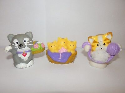 FIGURINES  LITTLE PEOPLE famille de chat chatons