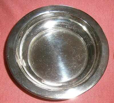 Nice Sterling Silver Small Dish Or Coaster Stamped Sterling 950 Age Unknown