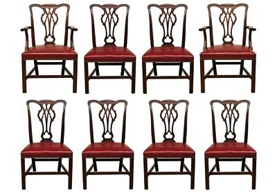 Set Of Eight Vintage CW Kittinger Mahogany Dining Chairs (49947)