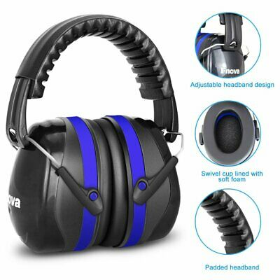 Ear Protection Noise Reduction Safety Ear Muffs Shooting Noise Gun Blue SNR 34dB