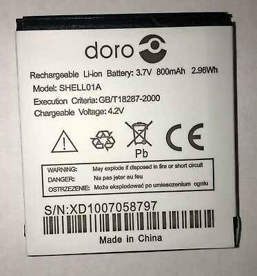 Original Battery For Doro SHELL01A Doro  800mah