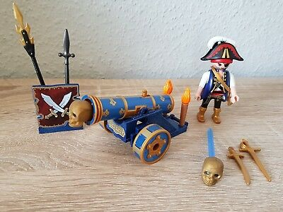 Playmobil 6164 Blaue Kanone mit Piraten-Offizier