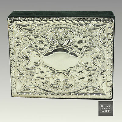 Vintage Sterling Silver Trinket Jewelry Box Top 925 Inlay Keepsake Italian Cigar