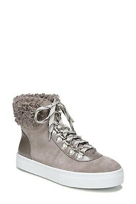 9feaea1d9d92 New Sam Edelman Luther Faux Shearling High Top Sneaker women s shoes boots