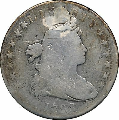1798 P Draped Bust Dollar, AG, Holed / Plugged, $1 About Good