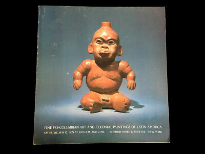 Sotheby's Fine Pre-Columbian Art Colonial Paintings 1979 Chimu Gold Mayan Vessel