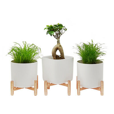 Indoor Plant Stand Pedestal Telephone Table Cherry Wood