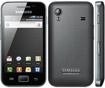 Samsung Galaxy Ace GT-S5830i O2 LOCKED - Black Smartphone Excellent Condition