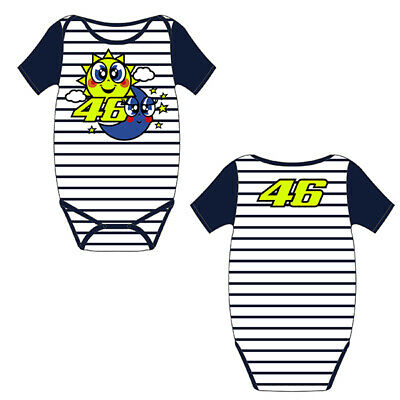 New 6 Months VR46 202 Official Rossi Racing Replica Babygrow Overall