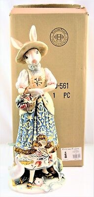 Fitz and Floyd Dapper Rabbits Female Figurine 63-561 NOB*