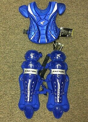"Easton Synge Fastpitch Softball Catcher Chest Protector 14"" & Leg Guard 16"" *NEW"