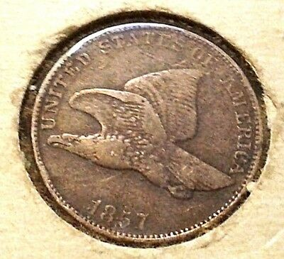 Flying Eagle Small Cent, 1857 No Reserve