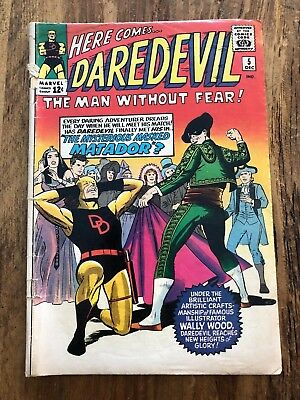 DAREDEVIL #5 WALLY WOOD ART BEGINS! 1964 SILVER AGE Classic Yellow Suit
