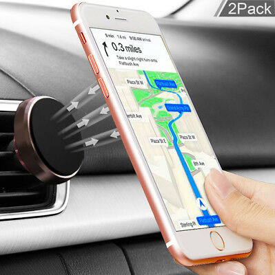 For iPhone XS/XR/8/7/6 Plus Phone GPS Air Vent Magnetic Car Mount Cradle Holder