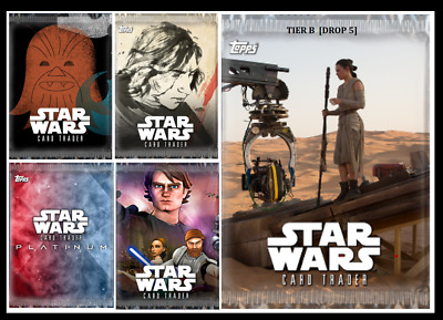 Topps Star Wars Card Trader PACK ART DROP 5 TIER B [SET 5 CARDS]