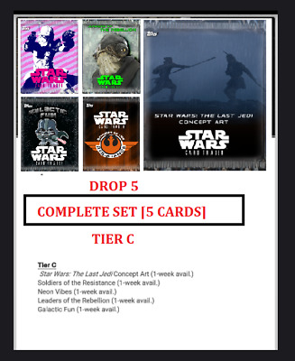 Topps Star Wars Card Trader PACK ART DROP 5 TIER C [SET 5 CARDS]