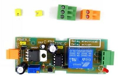 NE555 DC 5-12V Timer Relay Switch 1-300 Second Input Time Over Reset Delay Board