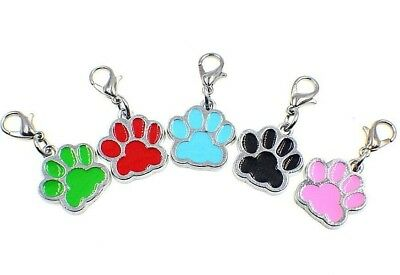 "Pack of 5 Enamel Paw Metal Charm Pendants 3//4/"" 18mm Color Choice Cat Dog"