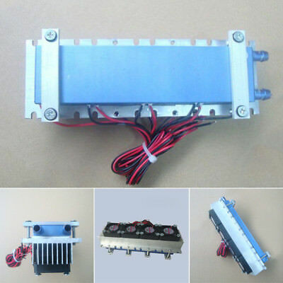 Quad-core Thermoelectric Peltier Air Cooling Device Cooler 4*TEC1-12706 DC 12V