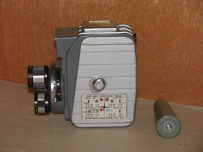 "Vintage Mansfield ""Holiday II"" Wind-Up Turret Style Movie Camera"