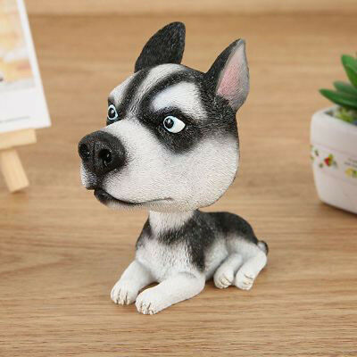 COOL BobbleHead Husky Dog Doll Car Dash/Home KId Room/Office Desk Decor US STOCK
