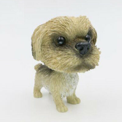 Resin Bobblehead Shih Tzu Dog Doll Toy Kid Room/Car Dash/Office Desk Decor Gift
