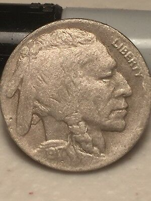 1917-D 5C Buffalo Nickel