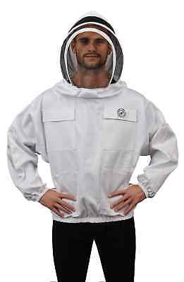 Humble Bee 511 Polycotton Beekeeping Smock with Fencing Veil (Large)
