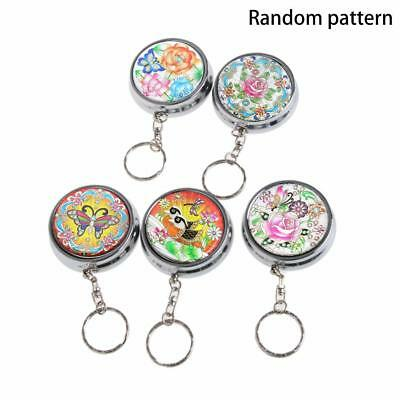 Mini Pocket Portable Round Cigarette Ashtray Keychain Gifts Stainless Steel Hot