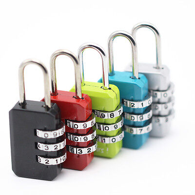 1PC Resettable 3 Digit Combination Travel Suitcase Luggage Bag Code Lock Padlock