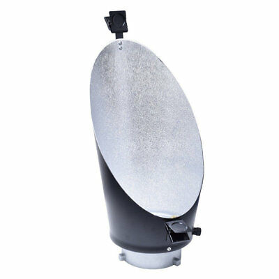 Oblique Background Backlight Reflector w/ Clip Bowens Mount Studio Flash Strobe