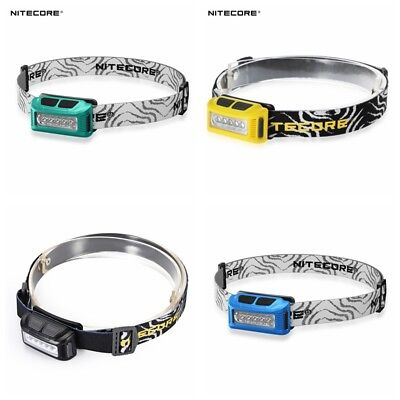 Nitecore NU10 160 Lumens 170° USB Rechargeable Headlamp White Red LED Light