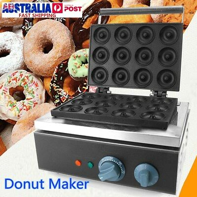 12 Grids Commercial Nonstick Electric Mini Donut Machine Doughnut Maker 220V