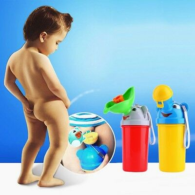 Portable Urinal Potty Baby Kid Car Travel Camping Outdoor Train Toilet Yellow YG