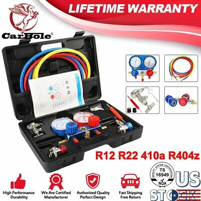 R134A A/C HVAC Refrigeration Kit AC Manifold Gauge Set Auto Service Kit R12 R22