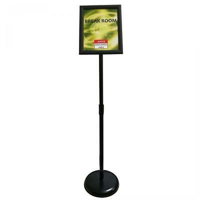 Adjustable Steel Poster Stand, Graphic Size 8.5 X 11 Inches, Color Black